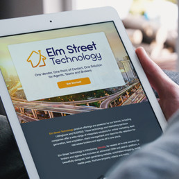 New branding and online and print collateral for Elm Street Technology and it's sub-brand, Elevate